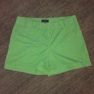 Talbots Spring green shorts - Size 14